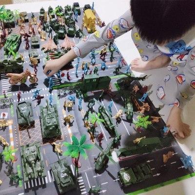 军事基地CT-8VE大套装带大地图 地图为无纺布防水老少皆宜大场景战争模拟军事导弹装甲战车坦克模型男孩节假日礼物