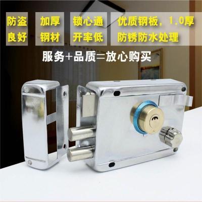 锁具木锁头机械反锁美式防锈活动板房锁室内简易客厅牛头自牛头锁 左开+带边+铜头(铜舌) 35-50mm 通用型