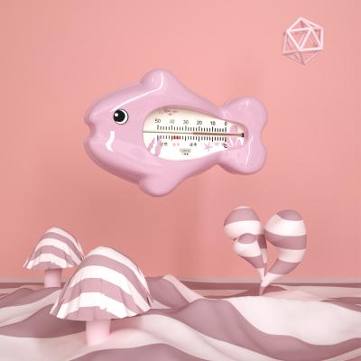 貝恩施 嬰兒水溫計寶寶洗澡溫度計新生兒家用測水溫表 嬰兒水溫計【淡櫻紅】