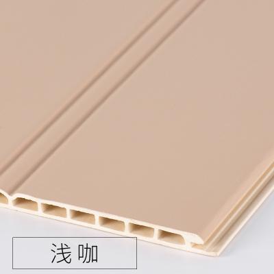 竹木纖維墻裙生態木護墻板防水墻面裝飾板吊頂材料背景墻陽臺快裝 淺咖色