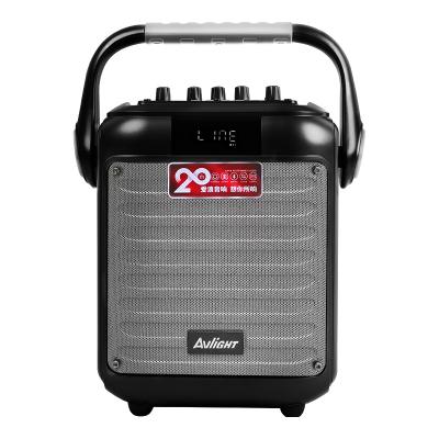 愛浪(Avlight)G6 手提式廣場舞音響戶外便攜式一體機話筒K歌移動無線藍牙音箱豪華升級版 深空灰