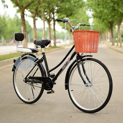 自行車女式24寸26寸男式女士成人通勤學生輕便淑女老式車zxc復古自行車便攜輕巧輕便腳踏車男女變速腳踏車可帶人