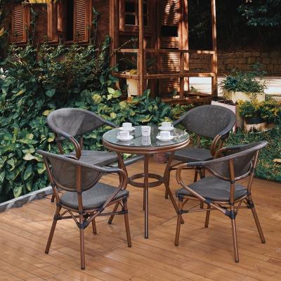藤椅戶外陽臺桌椅庭院休閑室外咖啡店餐廳外擺黎衛士組合