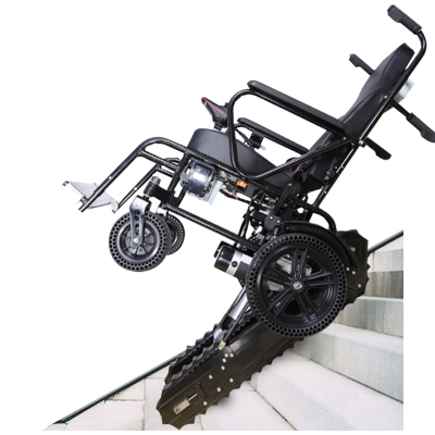 八哥W2电动爬楼机轮椅履带式锂电池轻便折叠爬楼车残疾人老人上下楼智能爬楼机