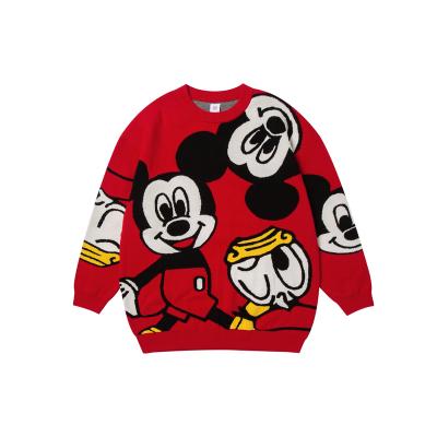 迷你巴拉巴拉兒童毛衣男童女童2020春季新親子裝童裝米奇IP針織衫