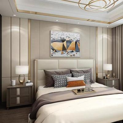 影視背景墻硬包現代閃電客簡約輕奢鑲嵌客廳沙發臥室床頭電視純色軟包 單買麻布50一米