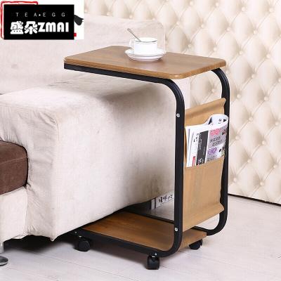 邊幾可移動小茶幾簡約沙發邊桌邊柜北歐角幾方幾床頭小桌子置物架-j08