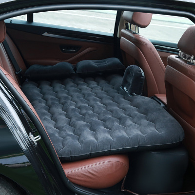 CHE AI REN 車載充氣床 車床墊PVC植絨汽車充氣床 旅行充氣床 黑色