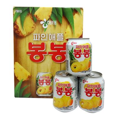 韩国进口海太(HAITAI)菠萝汁238mlx12瓶整盒装