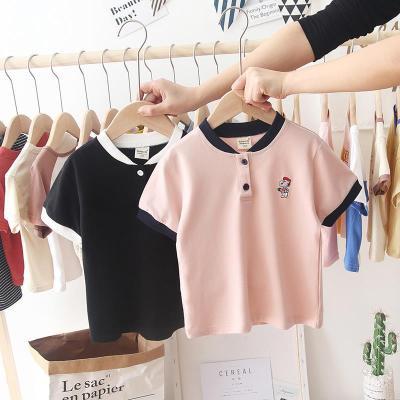 2020夏季韓版兒童寶寶T恤男童短袖休閑翻領POLO衫潮童嬰兒打底衫 臻依緣