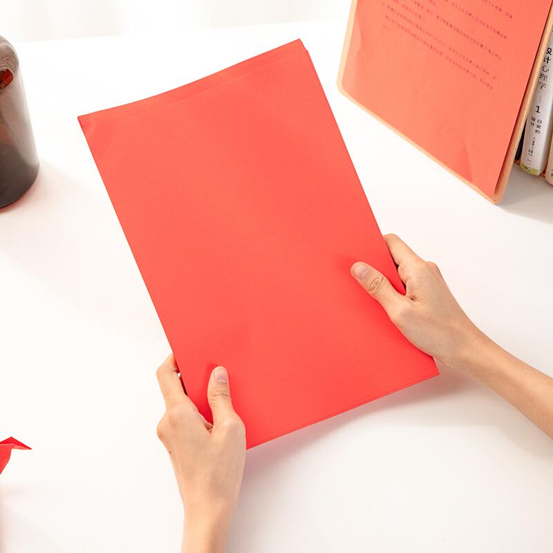 得力(deli)7758 A4 80g红色复印纸打印纸
