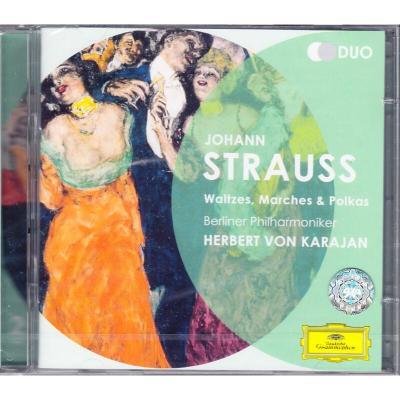 約翰·施特勞斯:華爾茲/進行曲/波爾卡舞曲 進口CD 卡拉揚4790002