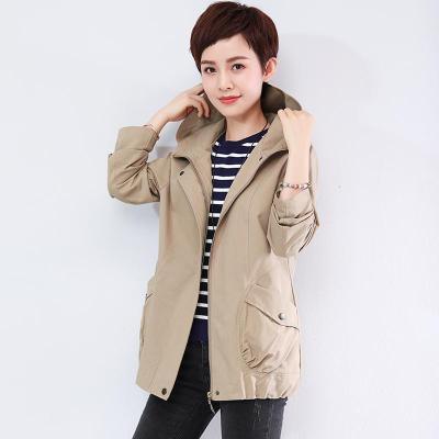 班俏BANQIAO大碼夾克韓版小個子bf風小外套女春秋裝衣服2020新款氣質女裝百搭短款夾克