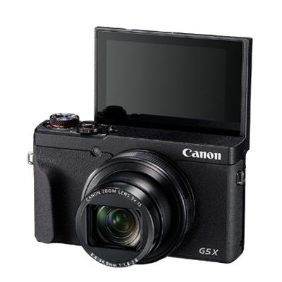 佳能(Canon)PowerShot G5X Ⅱ 黑色 數碼相機 Vlog視頻拍攝 3英寸屏幕 約2010萬有效像素