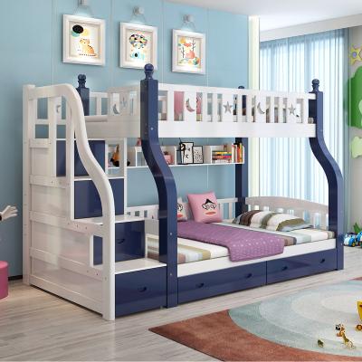 都市名門 上下床兒童高低床兩層成年床實木床雙層床大人床子母床松木床上下鋪梯柜樓梯床全母子多功能床