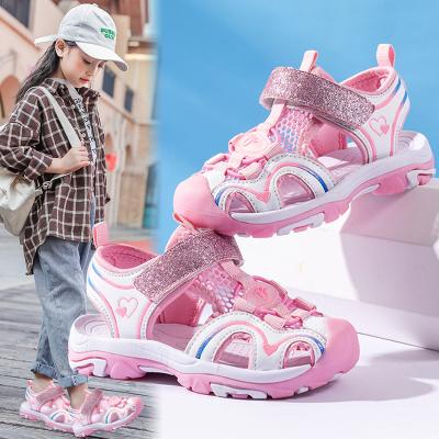 刺桐先生童鞋兒童涼鞋女童夏季新款兒童鞋子女百搭沙灘鞋防踢包頭涼鞋女童涼鞋