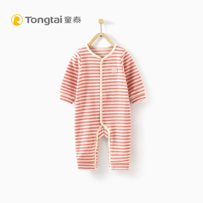 童泰秋冬新款婴儿衣服休闲连体衣3-18个月男女宝宝哈衣爬爬服