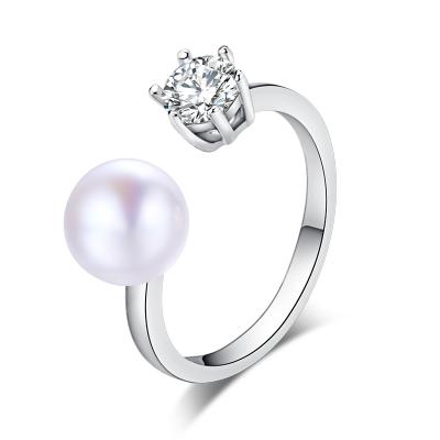 月印百川 淡水珍珠皇冠戒指 女款时尚指环