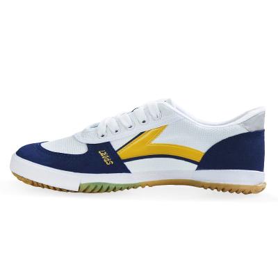 DOUBLESTAR雙星DSA018 雙星橡膠乒乓球鞋牛筋底帆布面訓練鞋男田徑防滑耐磨塑膠地面羽毛球鞋通用