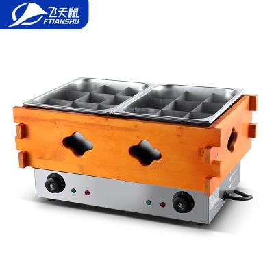 飛天鼠(FTIANSHU) 商用電熱雙缸木框關東煮鍋