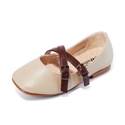 女童鞋子公主鞋2019春秋新款小女孩儿童皮鞋洋气软底时尚豆豆单鞋
