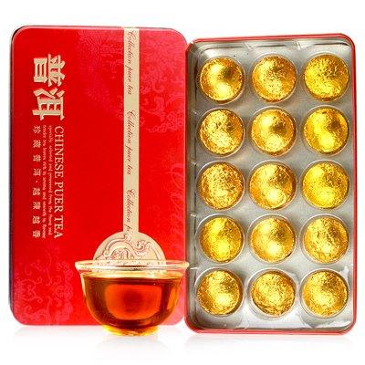 滇湘 普洱茶 云南普洱熟茶 原味普洱茶 小沱茶 迷你沱茶 4克/顆 每盒15顆60克 茶葉 黑茶