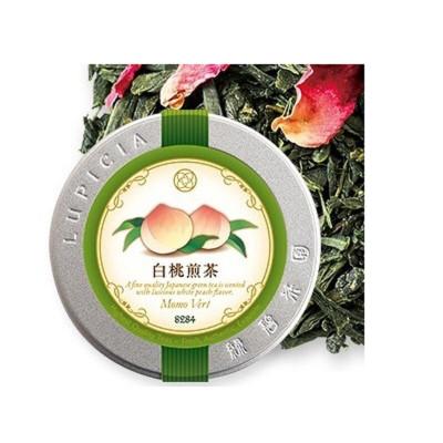 日本进口LUPICIA绿碧茶园 白桃乌龙茶叶 蜜桃乌龙调配茶/花果茶/水果茶 日本进口 白桃煎茶50g 罐装