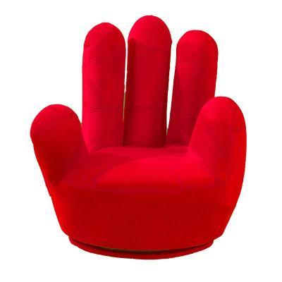 手指沙发椅五指沙发懒人单人沙发凳子手掌小沙发座椅卧室拇指椅子定制! 大号可旋转不拆洗(粉色)