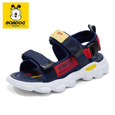 巴布豆BOBDOG HOUSE童鞋2020新款夏季防滑兒童涼鞋夏天男童軟底時尚女童沙灘鞋8671