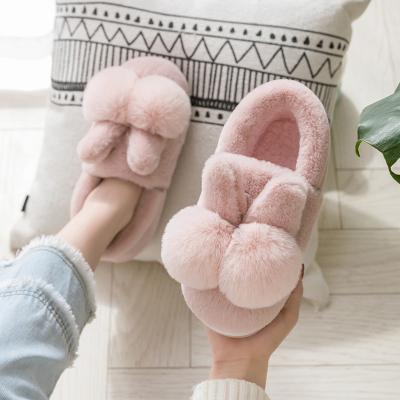 凌夢萱品牌可愛韓版棉拖鞋女冬包跟厚底室內兒童加絨月子產后防滑居家用棉鞋