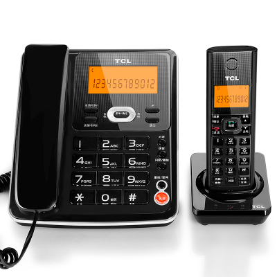 TCL D61 電話機 數字無繩電話 子母機 家用辦公固定電話機 無線座機