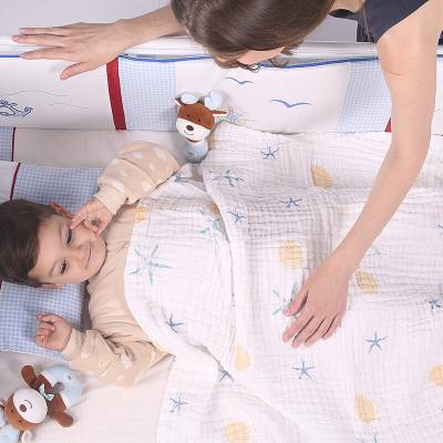 spiritkids嬰兒純棉浴巾超柔吸水寶寶紗布蓋毯初生洗澡兒童毛巾被