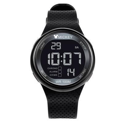 迪士尼兒童手表男孩夜光電子表 中學生手表多功能運動100M防水手表