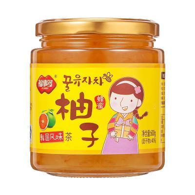 福事多蜂蜜柚子茶600g沖飲泡水喝的沖泡飲品 韓式水果茶飲花茶醬