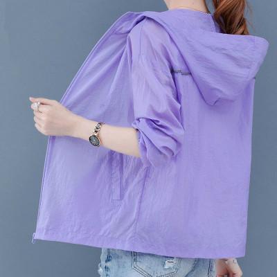 臘爸臘媽防曬衣女防紫外線短款2020新韓版夏季防曬服衫寬松百搭薄上衣外套