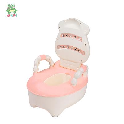 DuDi/青蛙嘟迪 兒童坐便器女寶寶嬰兒男便盆尿盆兒童馬桶座便器嬰兒坐便器馬桶寶寶坐便器 卡通奶牛座便器 粉紅