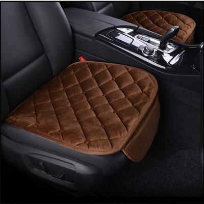 华饰汽车坐垫通用冬季毛绒座垫车载无靠背冬季座垫套 汽车用品 三件套