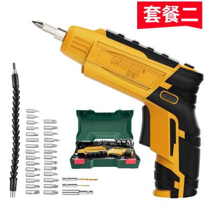雷銘電動螺絲刀綠色充電式電起子小手電鉆轉手槍鉆迷你螺絲批工具套裝2