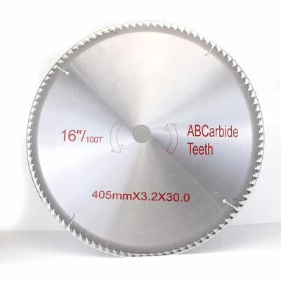 CIAA木工鋸片合金圓鋸片4 7 9 10 12寸硬質合金木工臺鋸鋸片 金色16寸400*100T鋁用