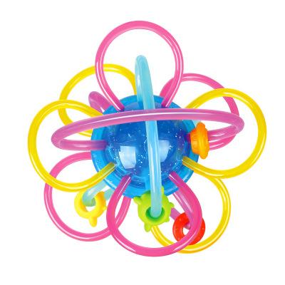 匯樂玩具 嬰兒玩具0-1歲 寶寶玩具星河牙膠球蜂巢牙膠球 曼哈頓球 嬰兒牙膠球 星河牙膠球