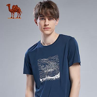 Camel骆驼运动T恤男女夏季圆领速干跑步短袖透气休闲健身宽松上衣半袖