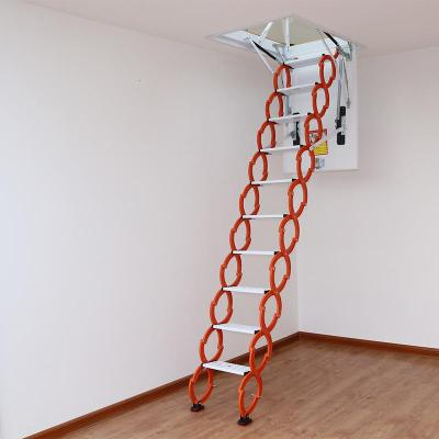 閣樓復式伸縮樓梯扶手家用定制電動樓梯加厚室內樓梯隱形隱藏成品定制 新款加強加筋冷軋鋼80*100