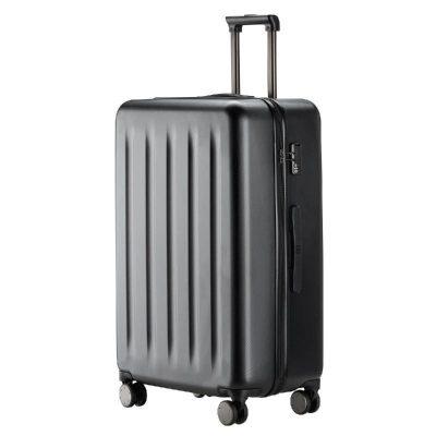 90分旅行箱 靜音萬向輪行李箱大容量防爆密碼箱 純PC拉鏈拉桿箱男女旅行箱 幻夜黑 28寸