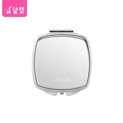 圆角镜1个#Acare时尚化妆镜便携镜女士随身折叠小镜子不锈钢双面镜韩国简约