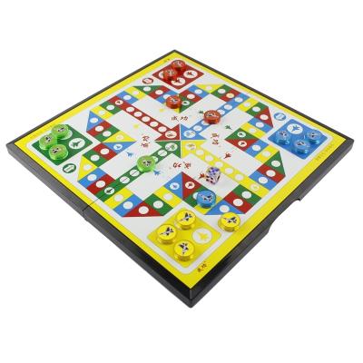 魅扣飞行棋磁性六一儿童节礼物小学生大号人家庭亲子生日飞机游戏棋 大号家庭款+2颗骰子 有收纳盒