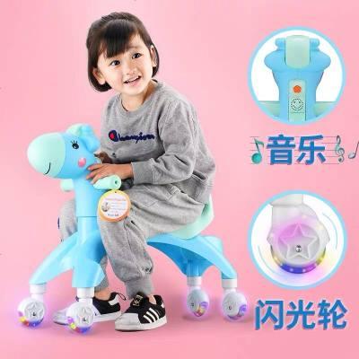 升級 小鹿1-3歲寶寶溜溜車兒童搖擺扭扭車防側翻萬向閃光輪滑行車