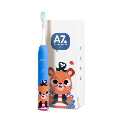 荷蘭艾優APIYOO官方旗艦店 兒童聲波電動牙刷 A7 防水充電式 3-12歲兒童款 海盜鼠 藍色
