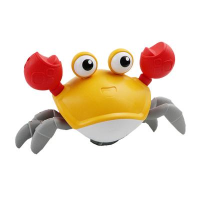 酷伴樂 小螃蟹玩具水陸兩棲抖音同款兒童牽繩洗澡神器游泳爬行走戲水 顏色隨機發貨