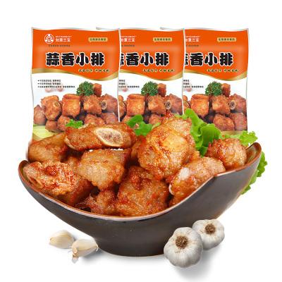 如意三寶 蒜香小排炸排骨豬排半成品美食炸物 400g*3