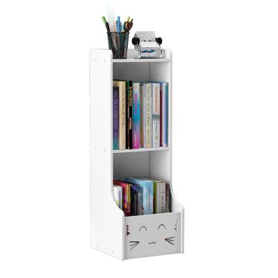 常恩 書架置物架學生桌面上小繪本收納家用簡約落地客廳房間兒童書柜書籍整理繪本架